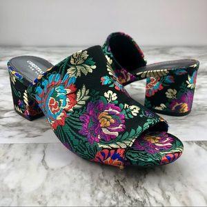 Christian Siriano Floral Block Heel Mule Slide 7